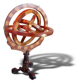 wooden astrolabe